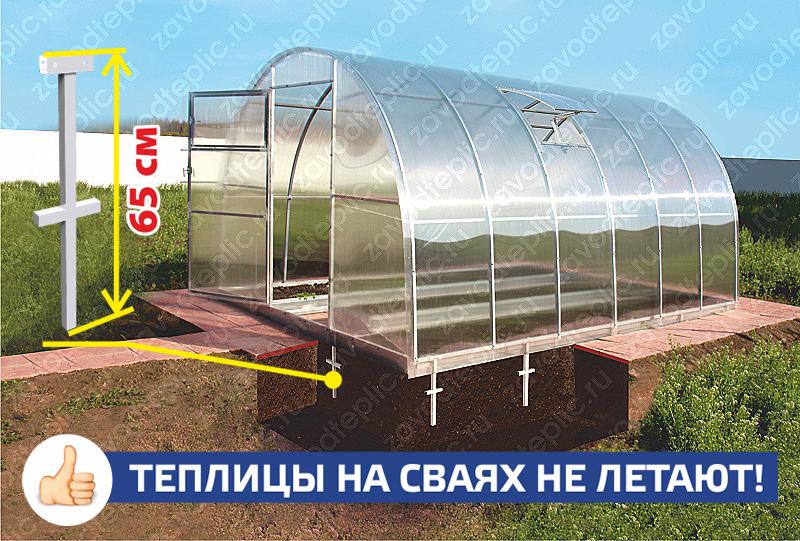 Фундамент под теплицу из поликарбоната своими руками 29